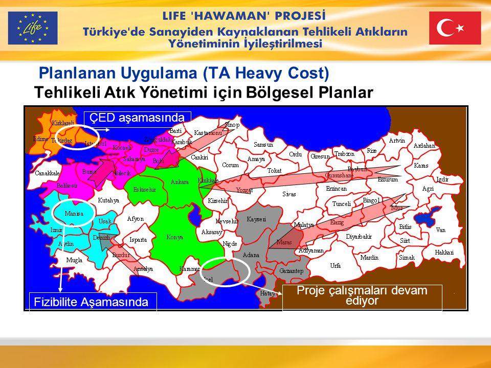 LIFE TCY/TR/000292 Amaç ve Hedefleri Türkiye'de sanayiden kaynaklanan tehlikeli atıkların insan sağlığı ve çevre üzerindeki olumsuz etkilerini en aza indirmek için tehlikeli atık yönetimini geliştirmeyi amaçlamaktadır.