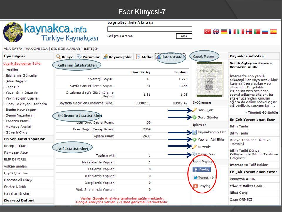 Eser Künyesi-7
