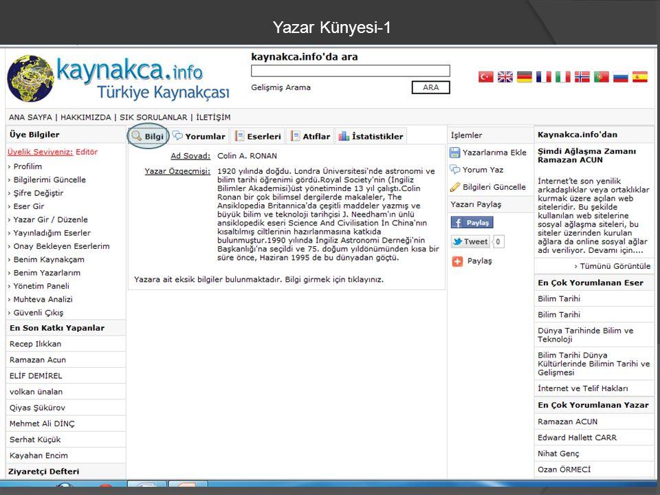 Yazar Künyesi-1