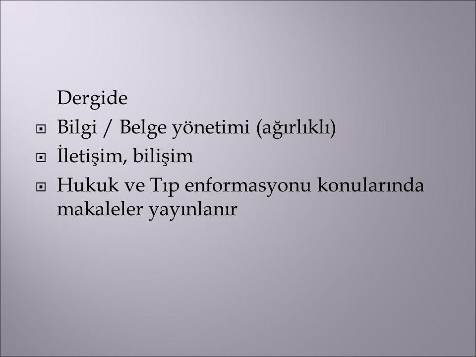 Hakem seçimi Türkiye'de en büyük sorun, bunlar: a) Yazıların konularına uygun yeterli sayıda ve/veya zamanda hakem bulunamaması b) Hakemlerden istenen zamanda geribildirim alınamaması