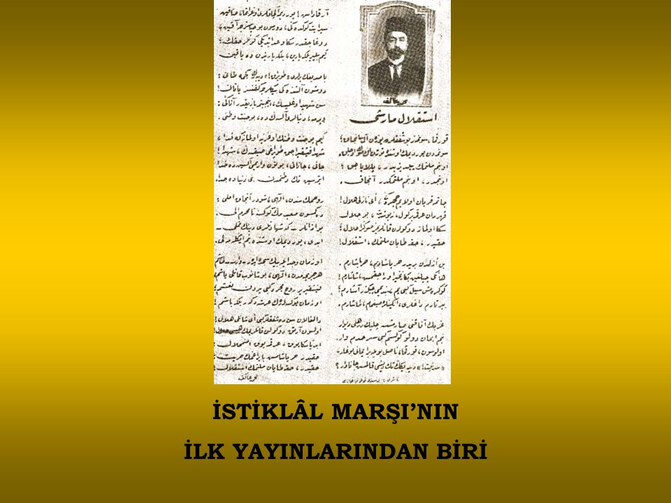 İSTİKLÂL MARŞI'NIN İLK YAYINLARINDAN BİRİ