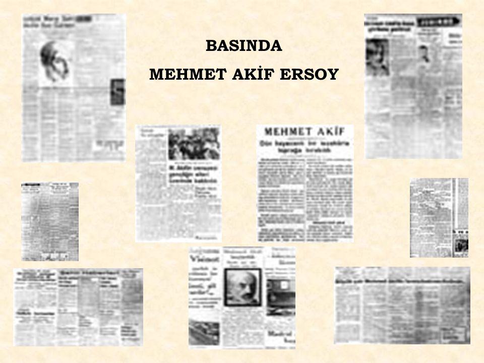 www.hazirslayt.com BASINDA MEHMET AKİF ERSOY