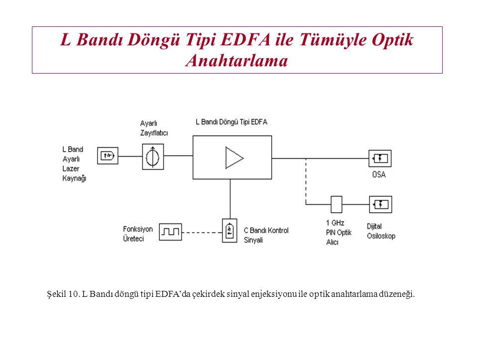 L Bandı Döngü Tipi EDFA ile Tümüyle Optik Anahtarlama Şekil 10.