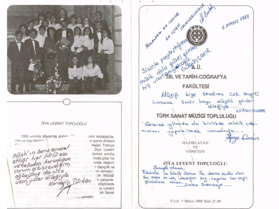 """Ankara DTCF Farabi salonu, konser sonrası (günümüz Tiyatro sanatçısı) """"Sema ATALAY"""" ile 1986"""