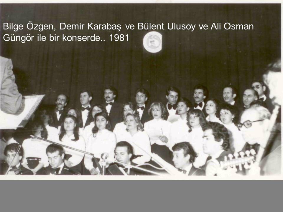 Hüseyin İleri ile bir konserimizde 1980