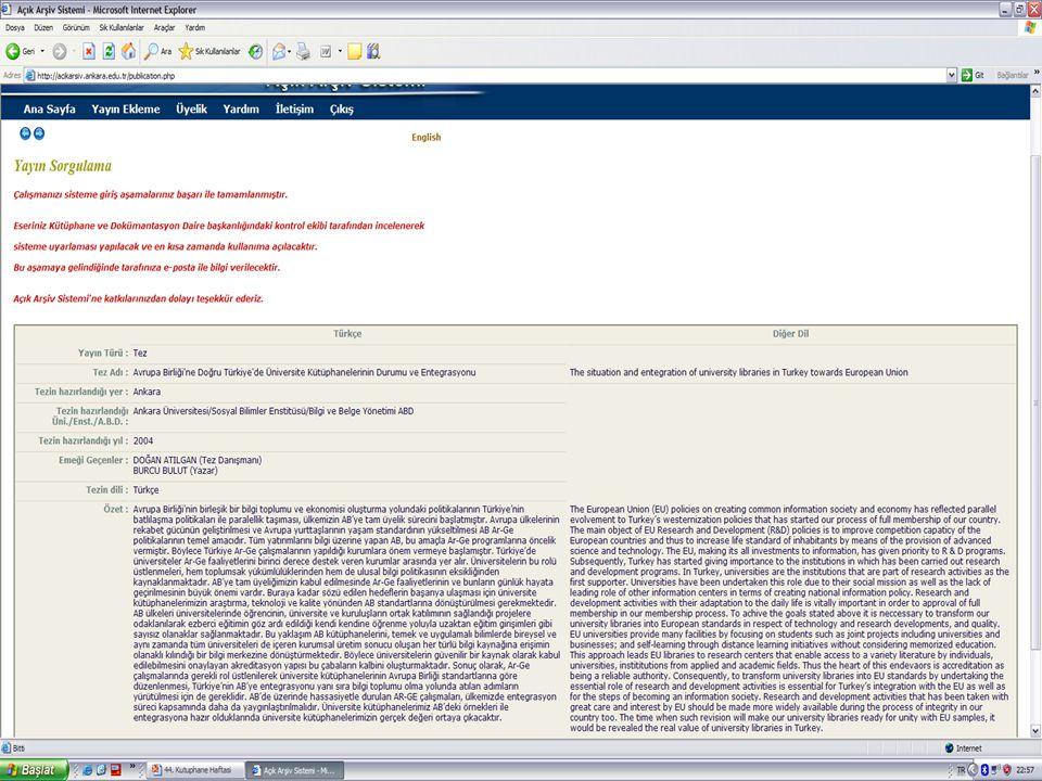 Üye Veri Giriş Ekranı - 5