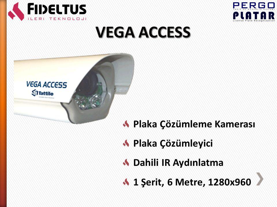 Plaka Çözümleme Kamerası Plaka Çözümleyici Dahili IR Aydınlatma 1 Şerit, 20 Metre, 1024x768