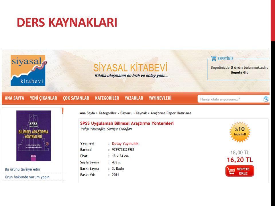 DERSİN DEĞERLENDİRİLMESİ  1.Ara Sınav - %15  2.