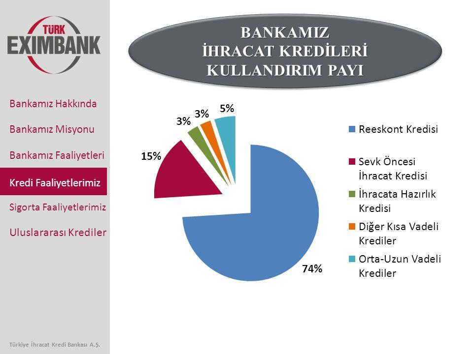 Bankamız Faaliyetleri Kredi Faaliyetlerimiz Sigorta Faaliyetlerimiz Uluslararası Krediler Bankamız Hakkında Bankamız Misyonu Türkiye İhracat Kredi Bankası A.Ş.