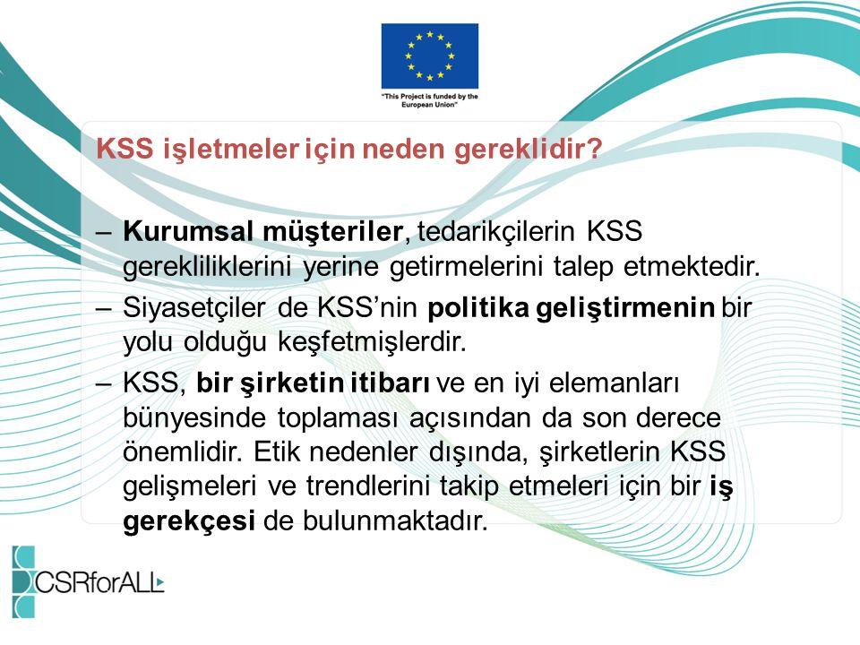 KSS işletmeler için neden gereklidir.