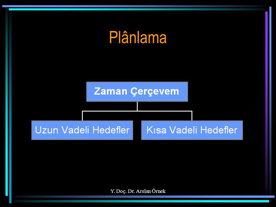 Y. Doç. Dr. Arslan Örnek Plânlama