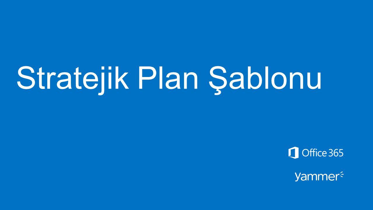 Stratejik Plan Şablonu