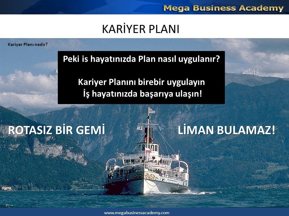 KARİYER PLANI 4.Hedef Kontrol çizelgesi İlk önce kendinse bir hedef belirleyin.