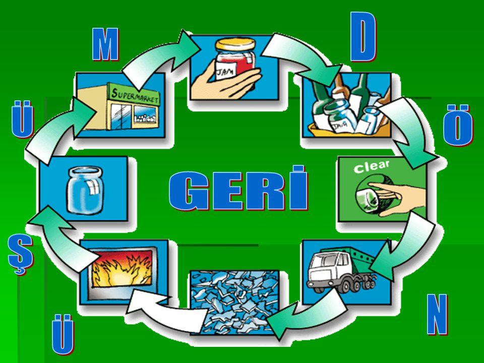 1.Kaynakta Ayırma; Değerlendirilebilir nitelikli atıkları çöple karışmadan oluştukları kaynakta ayırarak biriktirme.