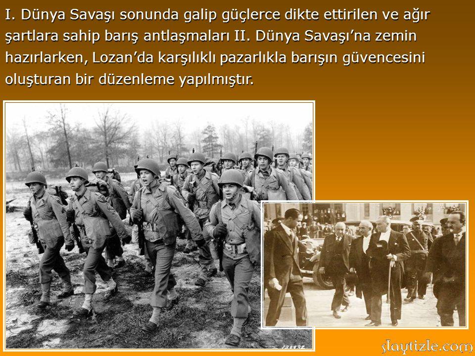 Ayrıca, Lozan, yaklaşık yüzyıldır devam eden Türk-Yunan çatışmasını sona erdirerek, ulaşılan barışla iki ülke arasında bir denge oluşturması bakımında