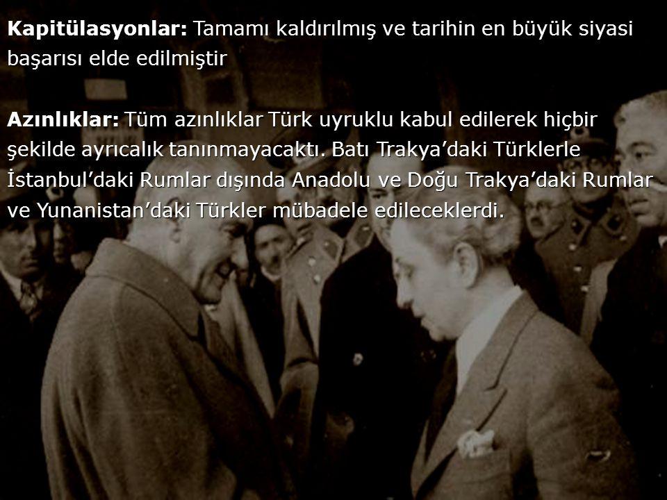 Türk-Yunan sınırı Mudanya Ateşkes Antlaşması'nda belirlenen şekliyle kabul edilmiştir.