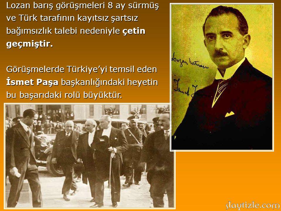 Atatürk önderliğinde Milli Mücadele'ye başlayan Türk ulusu savaş meydanlarında büyük zaferler kazanmış ve Lozan Antlaşması ile siyasi ve hukuki alanda tescil etmiştir.