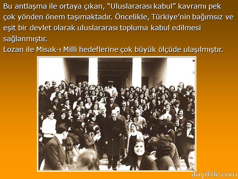 Lozan barış görüşmeleri 8 ay sürmüş ve Türk tarafının kayıtsız şartsız bağımsızlık talebi nedeniyle çetin geçmiştir. Görüşmelerde Türkiye'yi temsil ed
