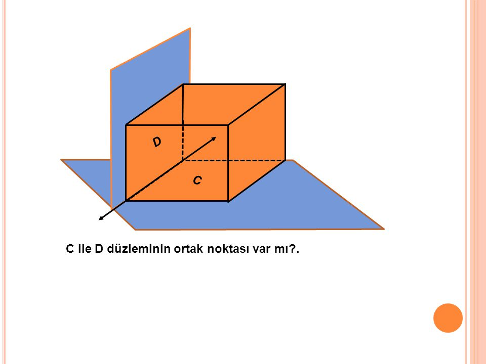 C ile D düzleminin ortak noktası var mı?. D C