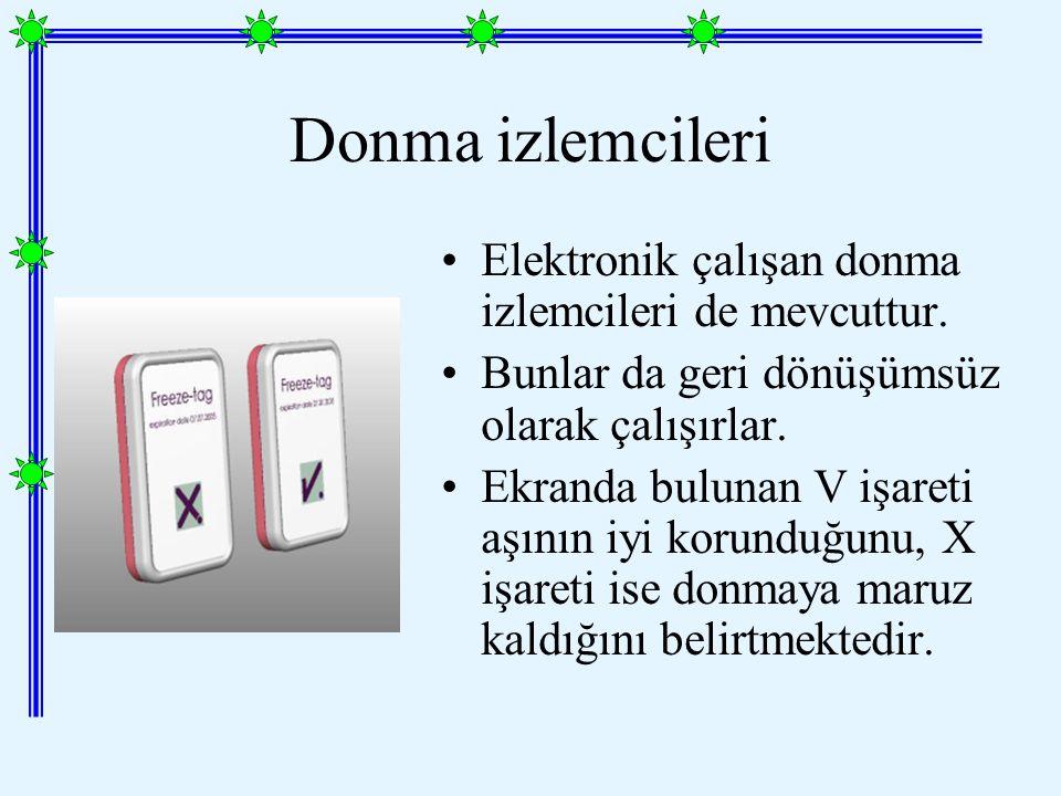 Donma izlemcileri Elektronik çalışan donma izlemcileri de mevcuttur.