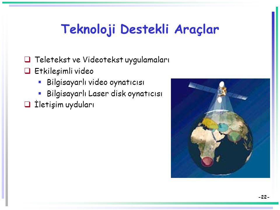 -21- Çoklu Ortamlar: Tanımlamalar-3  Çoklu ortamlar bir sistem olarak ele alınabilir.