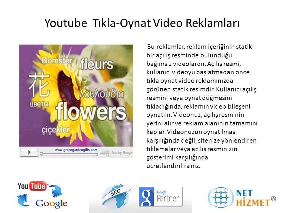 Bu reklamlar, reklam içeriğinin statik bir açılış resminde bulunduğu bağımsız videolardır. Açılış resmi, kullanıcı videoyu başlatmadan önce tıkla oyna