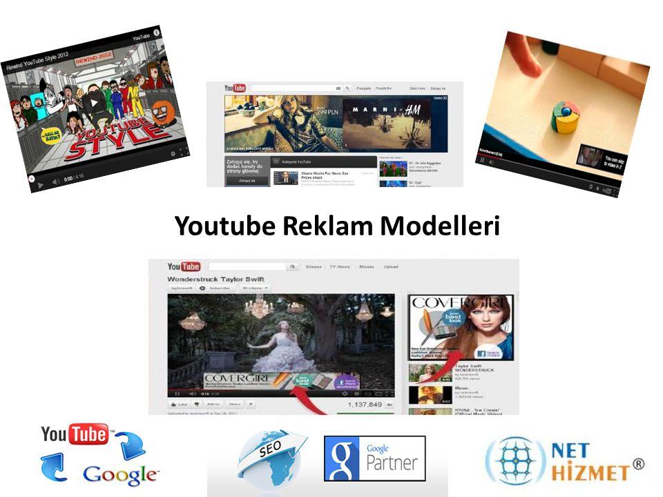 Youtube Anasayfa Reklamları, marka görseli ve youtube videosunun Youtube anasayfasının en üst barında yayınlanmaktadır.