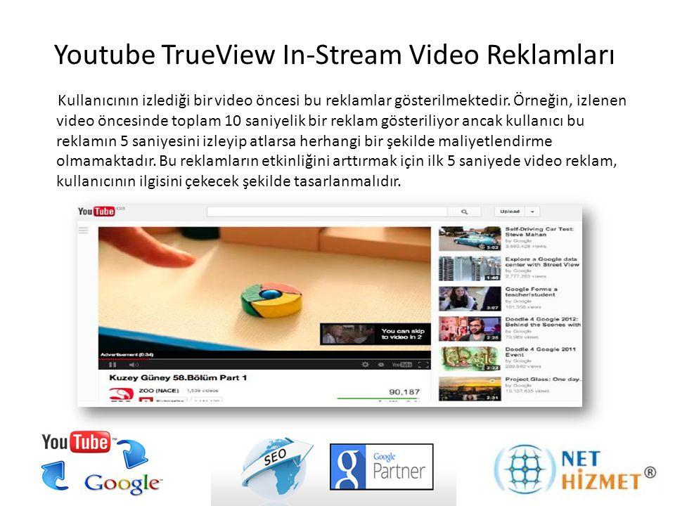 Kullanıcının izlediği bir video öncesi bu reklamlar gösterilmektedir. Örneğin, izlenen video öncesinde toplam 10 saniyelik bir reklam gösteriliyor anc