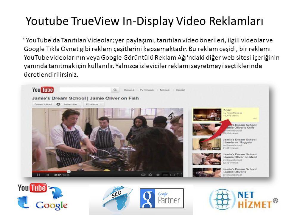 Bu video reklam, YouTube veya Google Görüntülü Reklam Ağı ndaki uzun süreli videolardan (10 dakikadan uzun) önce tanıtmak için kullanılmaktadır.