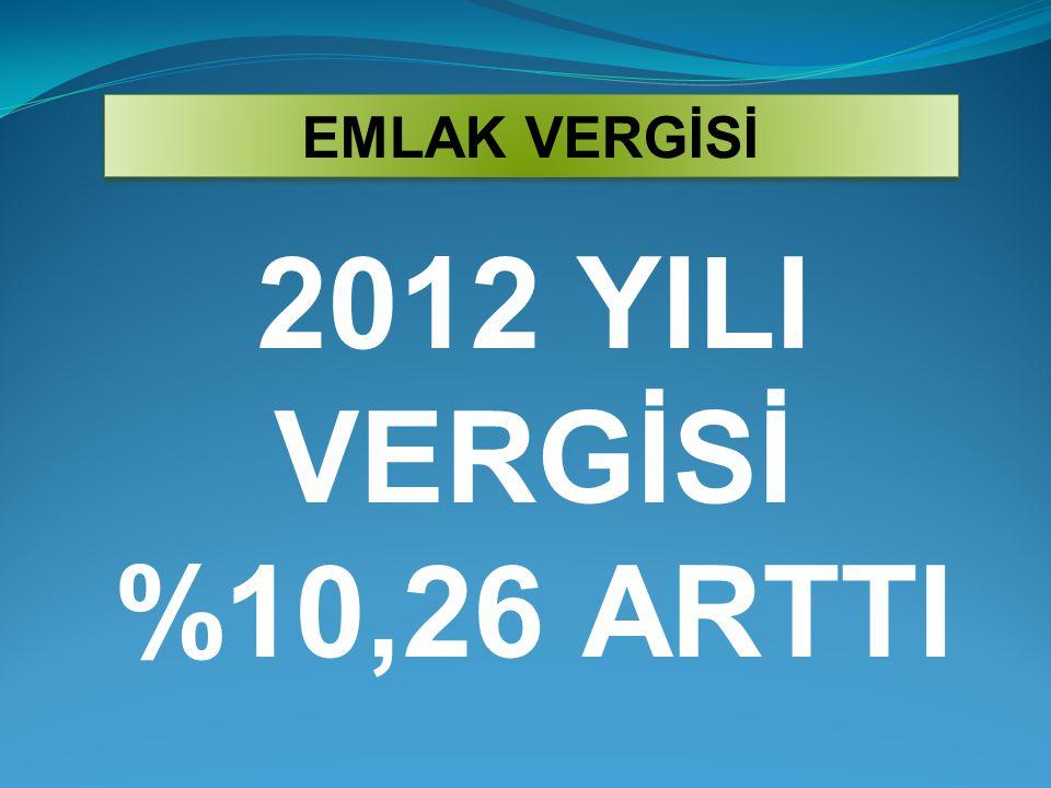 2012 YILI VERGİSİ %10,26 ARTTI EMLAK VERGİSİ