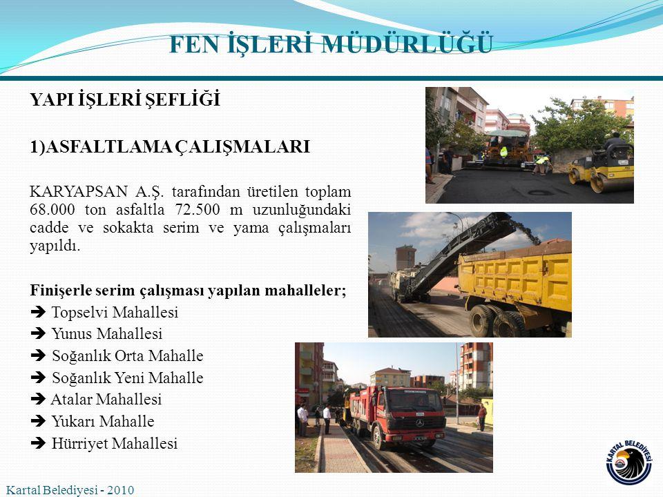 2)BORDÜR-TRETUVAR ÇALIŞMALARI E5 altı ve E5 üstünde ihtiyaç önceliği gösteren muhtelif mahallelerde toplam 35.000 m bordür ve 62.500 m 2 kilit taşı döşendi.