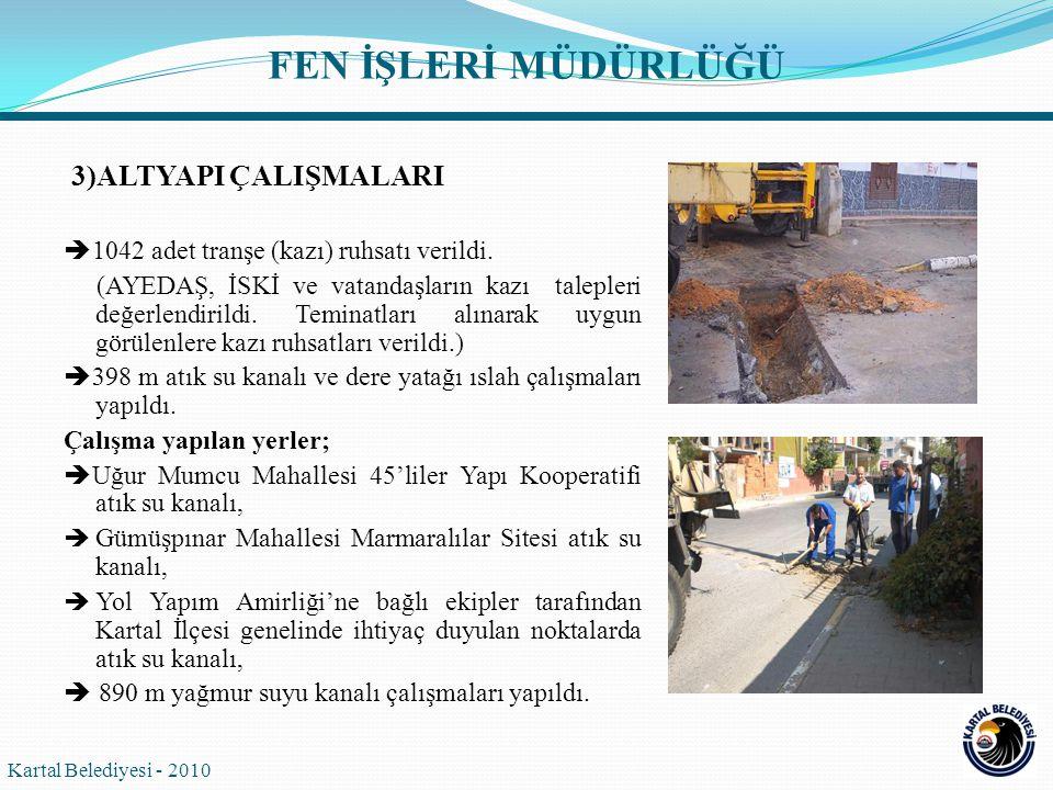 Kartal Belediyesi - 2010 FEN İŞLERİ MÜDÜRLÜĞÜ  Cumhuriyet Mahallesi Çimen Sokak'ta yağmur suyu kanalı yapıldı.