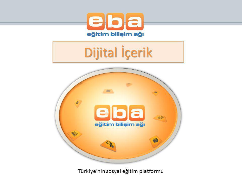 Dijital İçerik Türkiye'nin sosyal eğitim platformu
