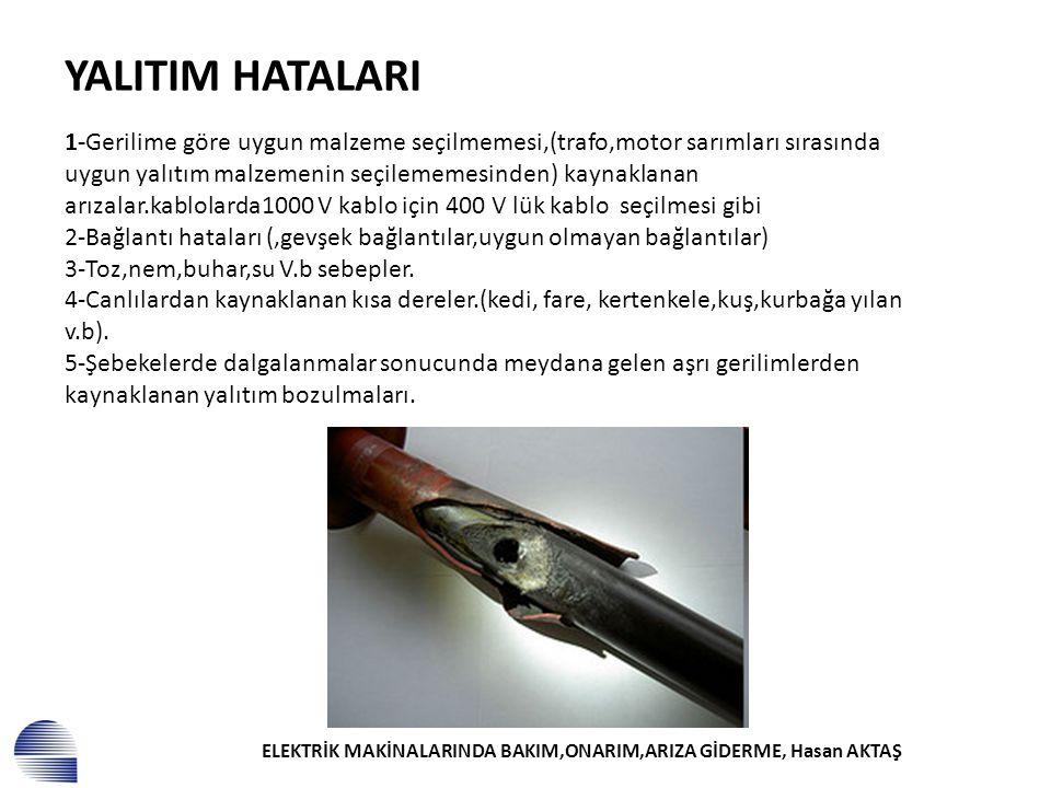 ELEKTRİK MAKİNALARINDA BAKIM,ONARIM,ARIZA GİDERME, Hasan AKTAŞ 1-ASENKRON MOTORLAR.