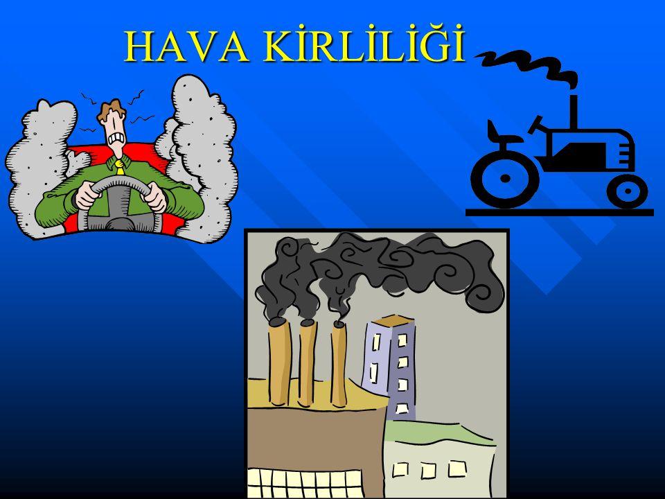 Hava Kirliliğini Önlemek İçin Alınabilecek Tedbirler:  Sanayi tesislerinin bacalarına filtre takılması sağlanmalı,  Evleri ısıtmak için yüksek kalorili kömürler kullanılmalı, her yıl bacalar ve soba boruları temizlenmeli,  Pencere, kapı ve çatıların izolasyonuna önem verilmeli,  Kullanılan sobaların TSE belgeli olmasına dikkat edilmeli,  Doğalgaz kullanımı yaygınlaştırılarak, özendirilmeli,  Kalorisi düşük olan ve havayı daha çok kirleten kaçak kömür kullanımı engellenmeli,  Kalorifer ve doğalgaz kazanlarının periyodik olarak bakımı yapılmalı,  Kalorifercilerin ateşçi kurslarına katılımı sağlanmalı, 