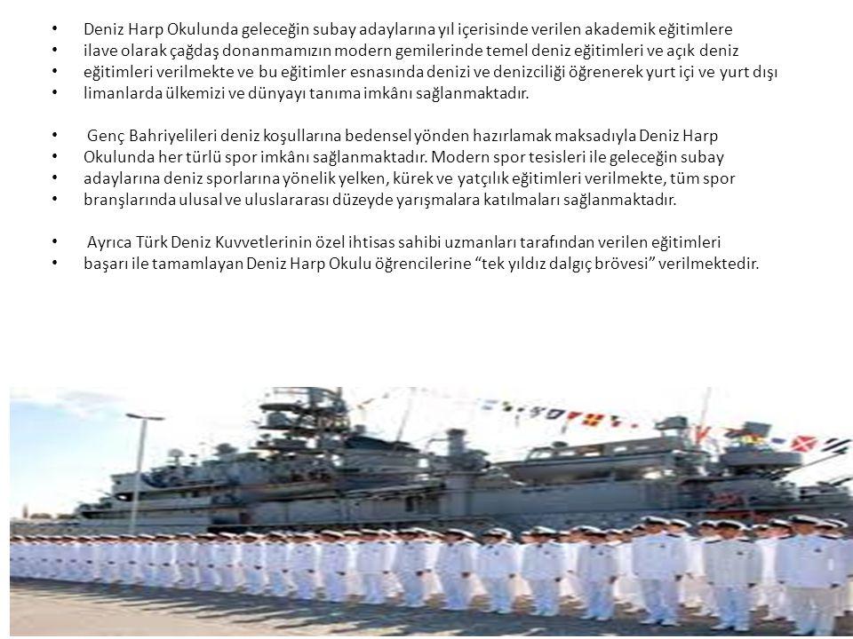 Deniz Harp Okulunda geleceğin subay adaylarına yıl içerisinde verilen akademik eğitimlere ilave olarak çağdaş donanmamızın modern gemilerinde temel de