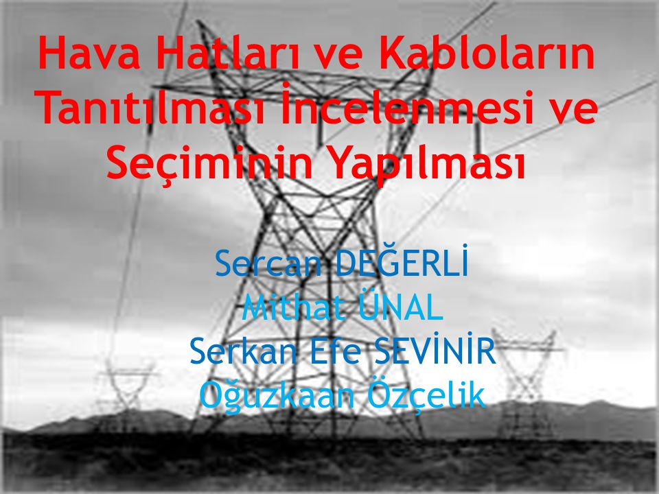 ..Günümüzde en kullanışlı ve ekonomik enerji türü şüphesiz elektrik enerjisidir.