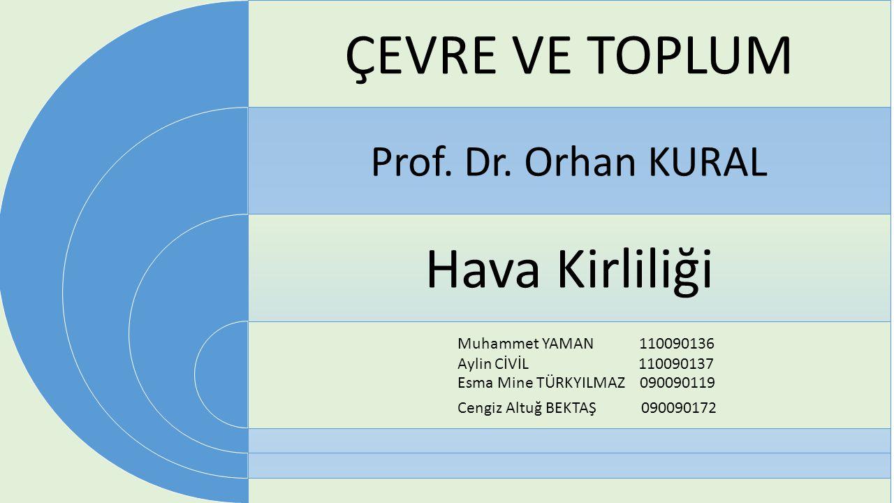 ÇEVRE VE TOPLUM Prof.Dr.