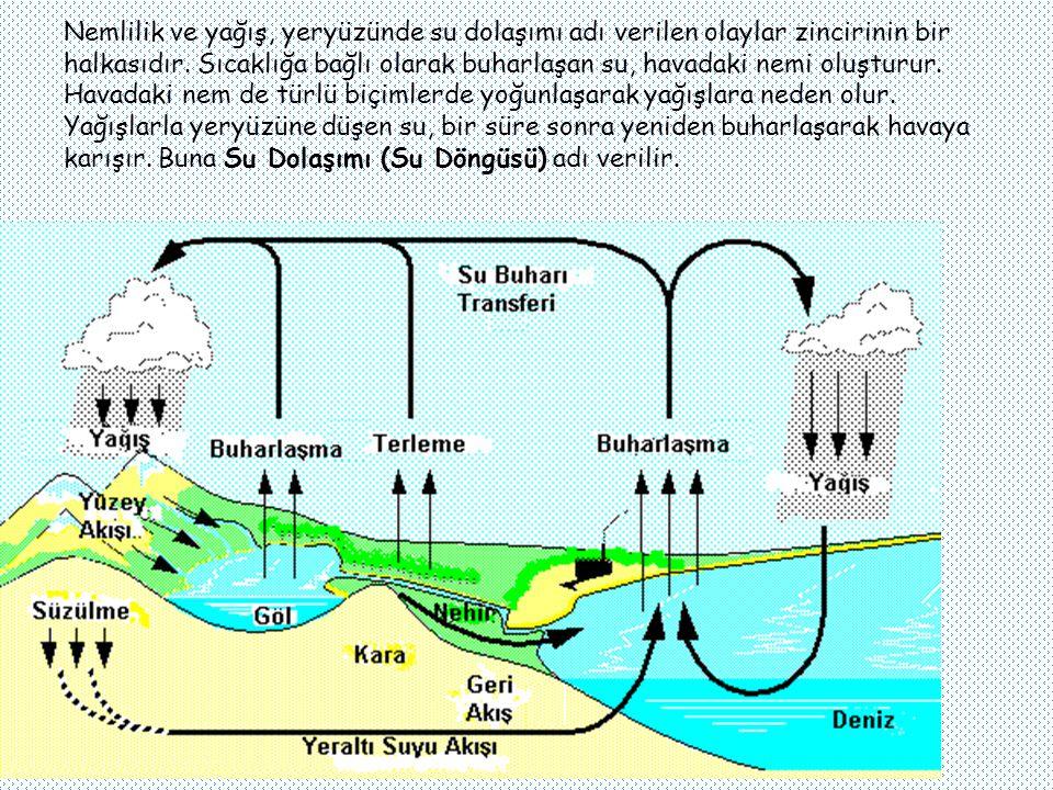 Nemlilik ve yağış, yeryüzünde su dolaşımı adı verilen olaylar zincirinin bir halkasıdır.