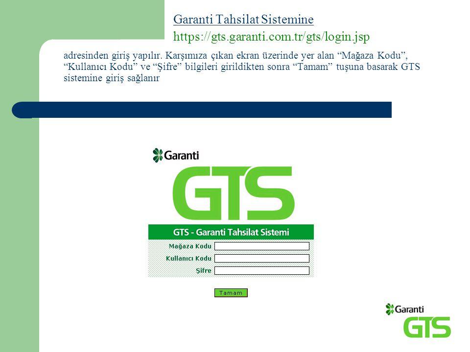 Kullanıcı Yönetimi Kullanıcı Yönetimi sayfası GTS kullanıcılarının yönetim sayfasıdır.