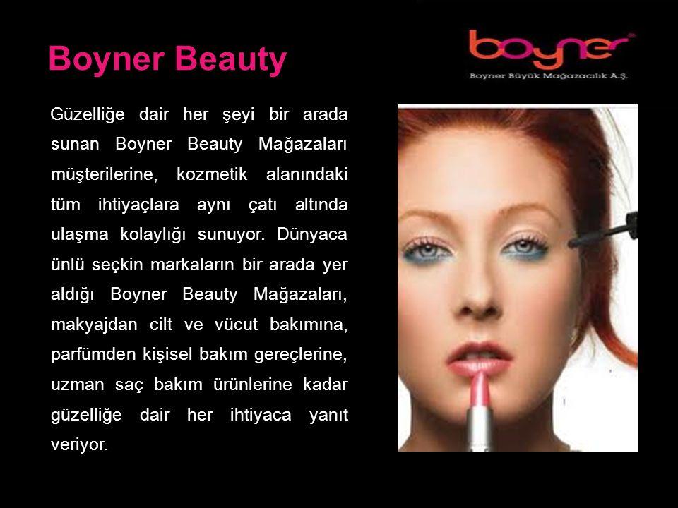 Boyner Beauty Güzelliğe dair her şeyi bir arada sunan Boyner Beauty Mağazaları müşterilerine, kozmetik alanındaki tüm ihtiyaçlara aynı çatı altında ulaşma kolaylığı sunuyor.