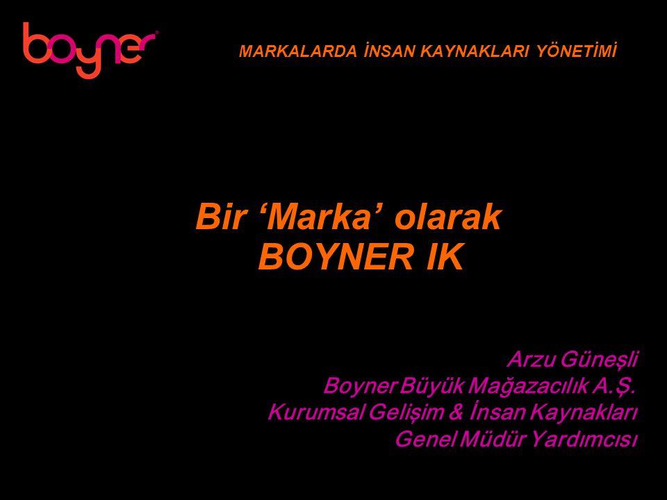 MARKALARDA İNSAN KAYNAKLARI YÖNETİMİ Arzu Güneşli Boyner Büyük Mağazacılık A.Ş.