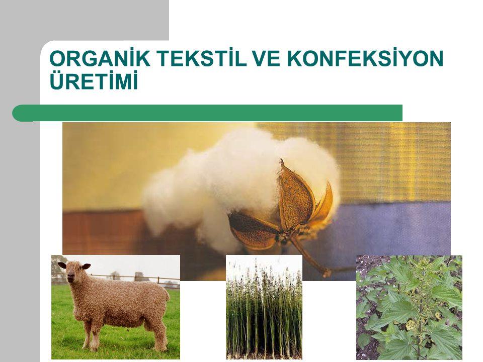 NEDEN ORGANİK TEKSTİL VE KONFEKSİYON Ekolojik dengenin bozulması – Dünyada kullanılan tarım ilaçlarından; Pestisitin %10'nu Insectisitin % 25'i pamukta kullanılmaktadır – Sentetik gübre kullanımında pamuk 4.