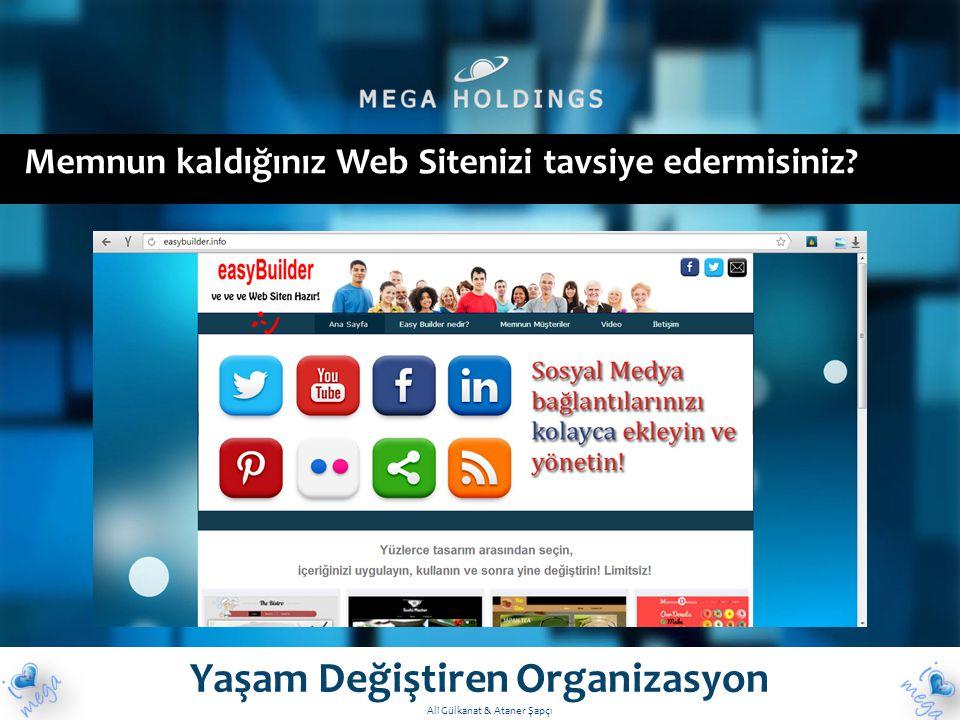 Memnun kaldığınız Web Sitenizi tavsiye edermisiniz? Yaşam Değiştiren Organizasyon Ali Gülkanat & Ataner Şapçı