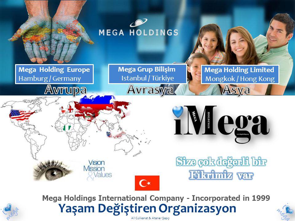 Mega Holdings International Company - Incorporated in 1999 Yaşam Değiştiren Organizasyon Mega Holding Europe Hamburg / Germany Mega Holding Limited Mo