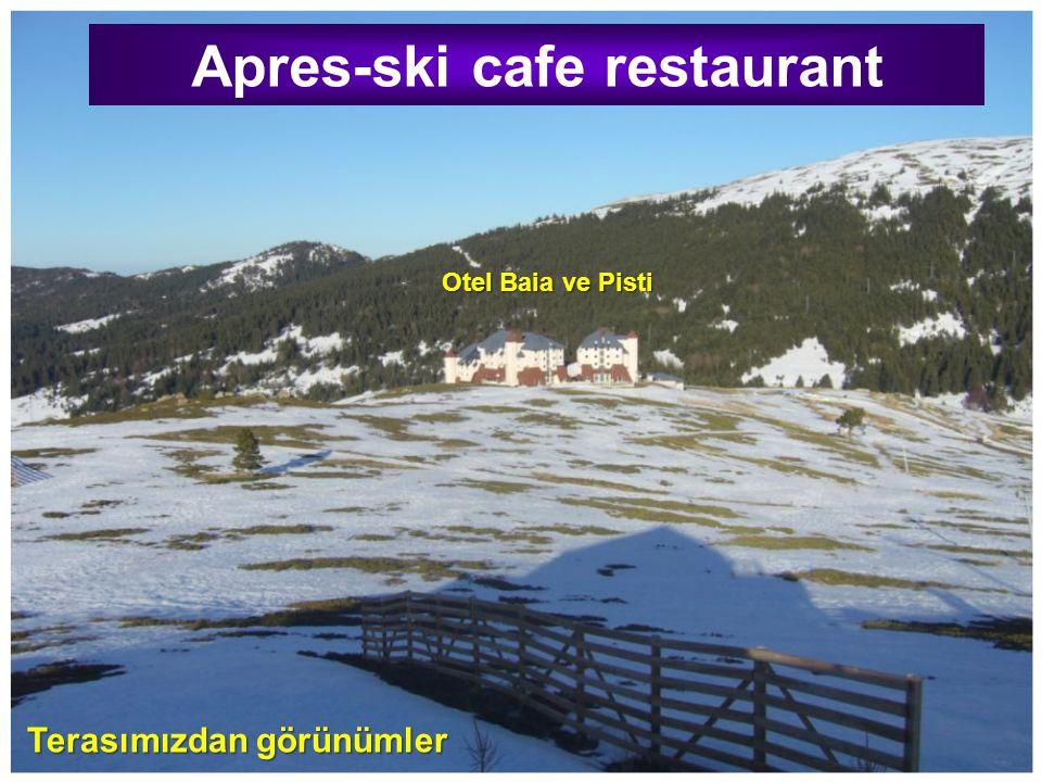 Otel Baia ve Pisti Terasımızdan görünümler