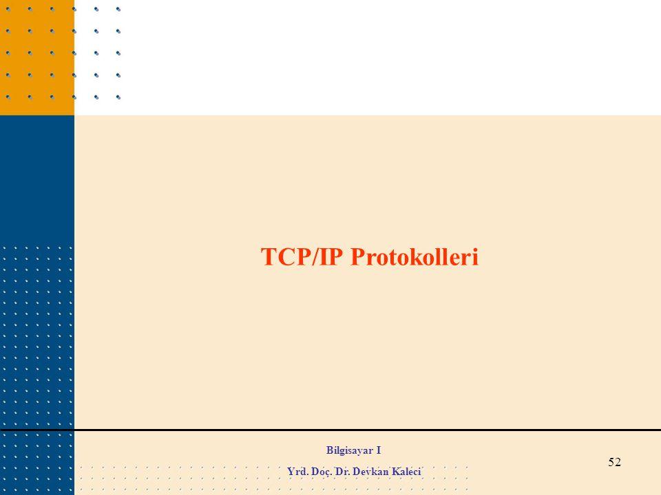 52 TCP/IP Protokolleri Bilgisayar I Yrd. Doç. Dr. Devkan Kaleci