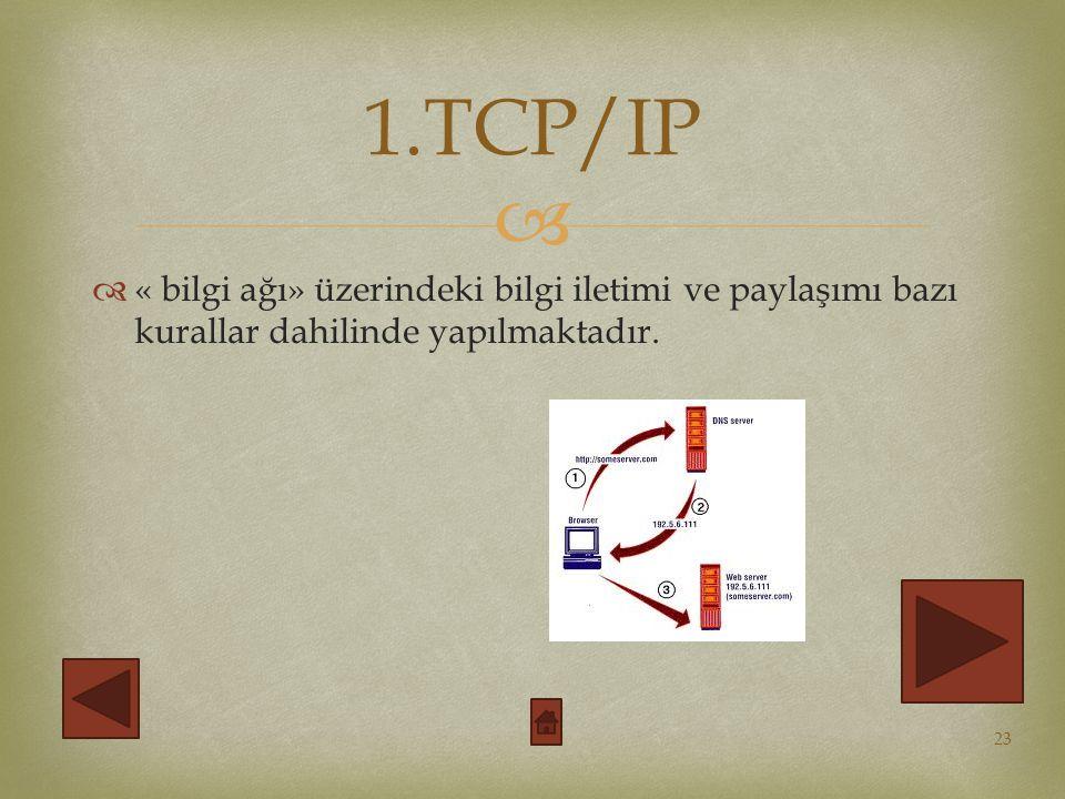   « bilgi ağı» üzerindeki bilgi iletimi ve paylaşımı bazı kurallar dahilinde yapılmaktadır.