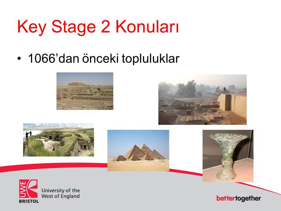 Key Stage 2 Konuları 1066'dan önceki topluluklar
