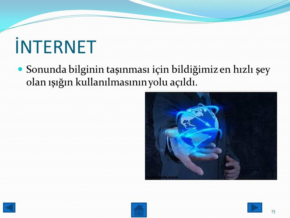İNTERNET Kablo TV şebekesi üzerinden bilgisayarınıza bağlanacak bir kablo modem yoluyla herhangi bir internet servis sağlayıcısına bağlanılabilir. 14